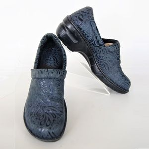 BOC Born Concepts Clog in Blue Embossed Filigree